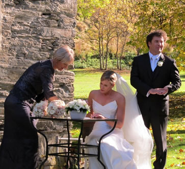 Marriage Celebrant wedding services - Signing the Register