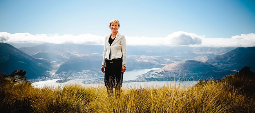Kathryn Omond - Wedding Celebrant overlooking Queenstown
